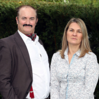 Michael and Louise Green, owners of Laughlines